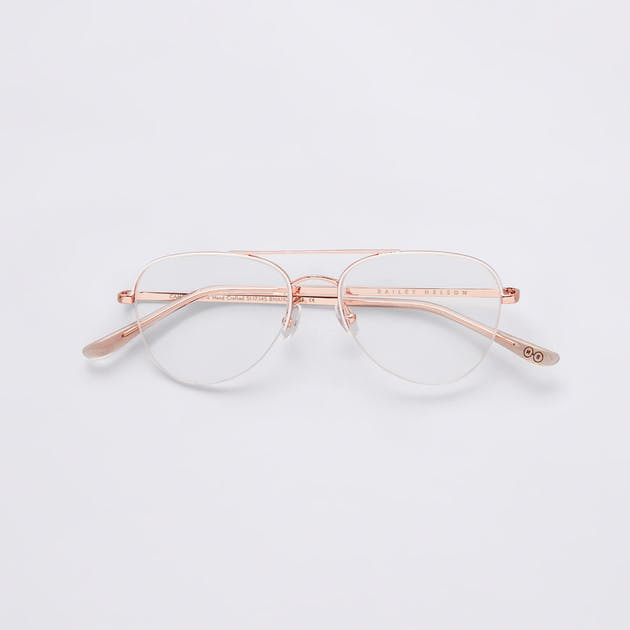 Campbell Semi Rimless in Rose Gold