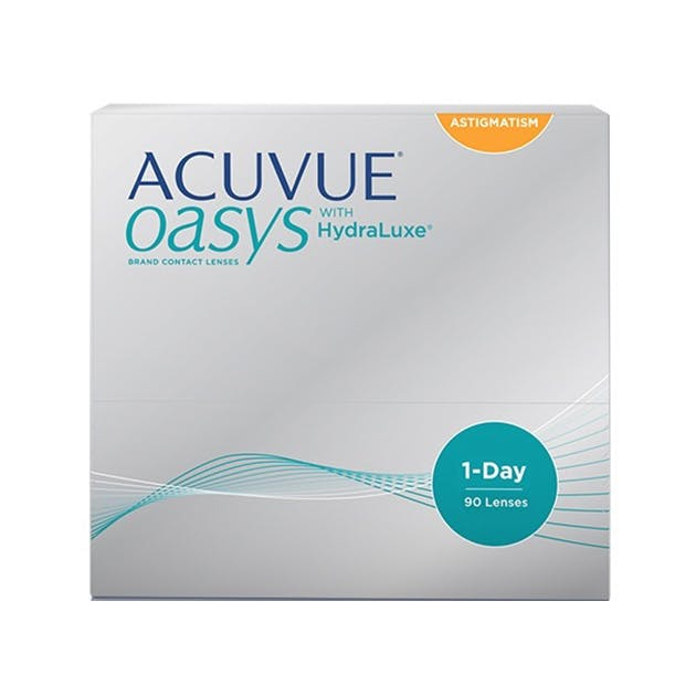 1 Day Acuvue Oasys Hydraluxe for Astigmatism - 90 pack in 90 pack